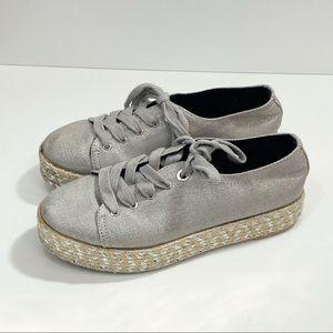 SAM EDELMAN Circus Brandon Metallic Platform Shoes